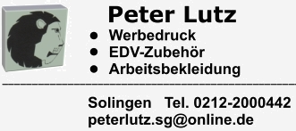 peter lutz solingen werbedruck tinten toner arbeitsbekleidung zunftkleidung. Black Bedroom Furniture Sets. Home Design Ideas